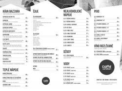Kafebar - menu 1