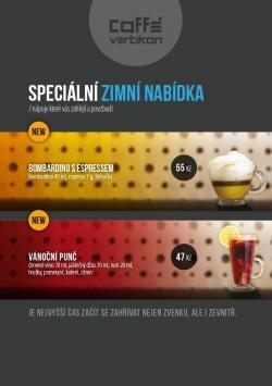 Kafebar - zimní nabídka